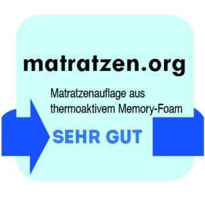 Matratzenauflage aus thermoaktivem Memory-Foam