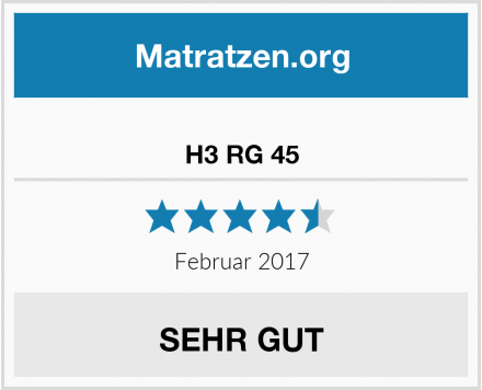 Ravensberger Matratzen H3 RG 45 Test