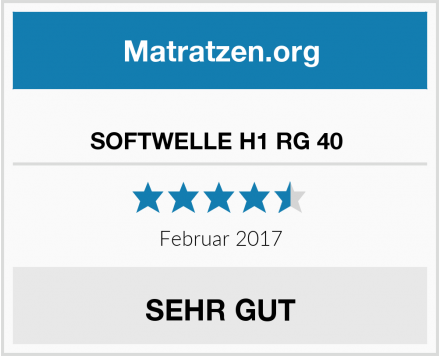 Ravensberger Matratzen SOFTWELLE H1 RG 40  Test