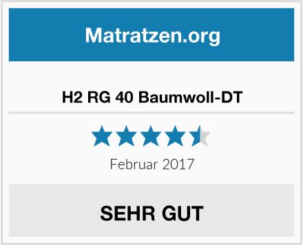 Ravensberger Matratzen H2 RG 40 Baumwoll-DT Test