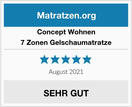 Concept Wohnen 7 Zonen Gelschaumatratze Test