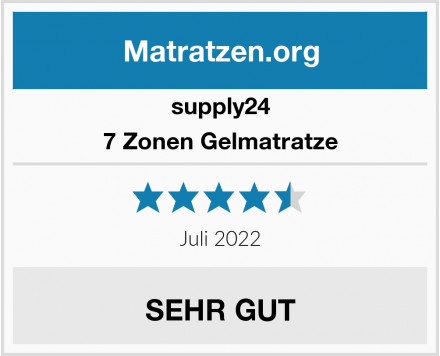 supply24 7 Zonen Gelmatratze Test