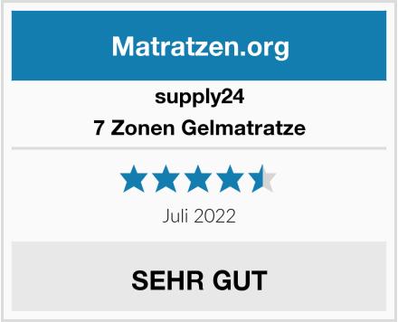 supply24 7 Zonen Gelmatratze Test