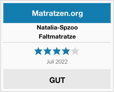 Natalia Spzoo Faltmatratze Test