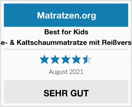 Best for Kids Viskose- & Kaltschaummatratze mit Reißverschluss Test