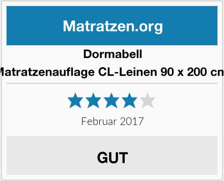 Dormabell Matratzenauflage CL-Leinen 90 x 200 cm  Test