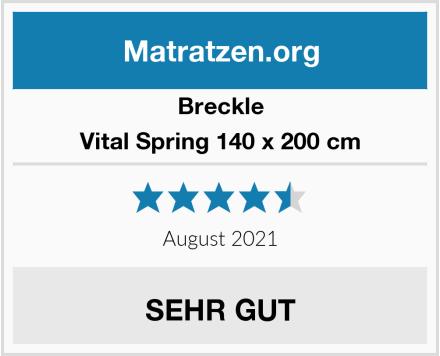 Breckle Vital Spring 140 x 200 cm Test
