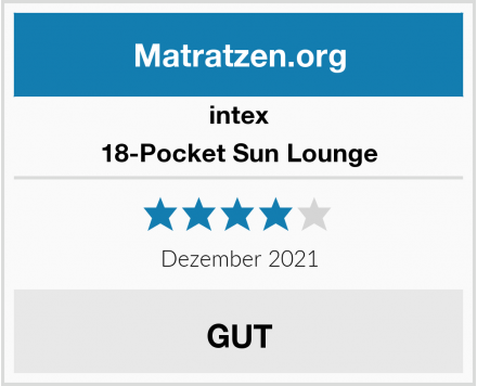 Intex 18-Pocket Sun Lounge Test