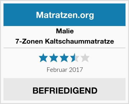 Malie 7-Zonen Kaltschaummatratze Test
