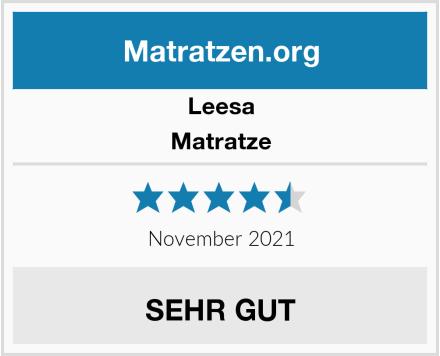 Leesa Matratze Test