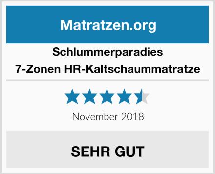 Schlummerparadies 7-Zonen HR-Kaltschaummatratze Test