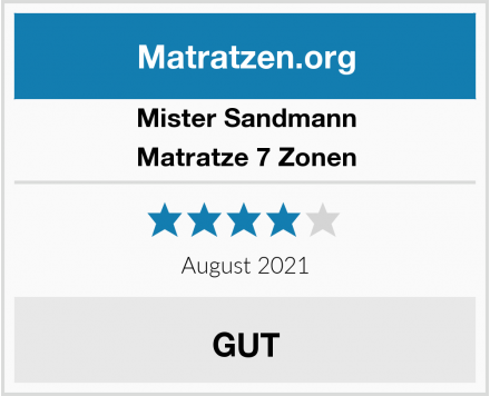 Mister Sandmann Matratze 7 Zonen Test