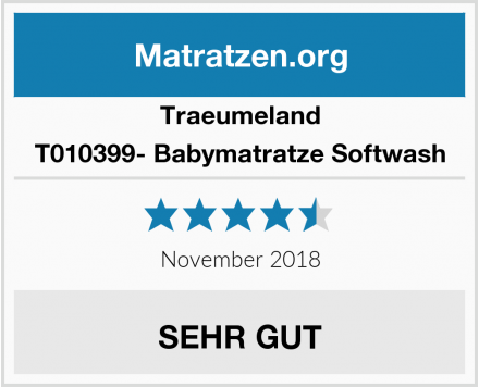 Traeumeland T010399- Babymatratze Softwash Test