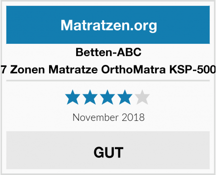 Betten-ABC 7 Zonen Matratze OrthoMatra KSP-500 Test