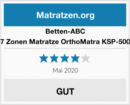 Betten-ABC 7 Zonen Matratze OrthoMatra KSP-500 Test