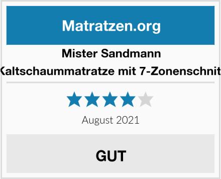 Mister Sandmann Kaltschaummatratze mit 7-Zonenschnitt Test