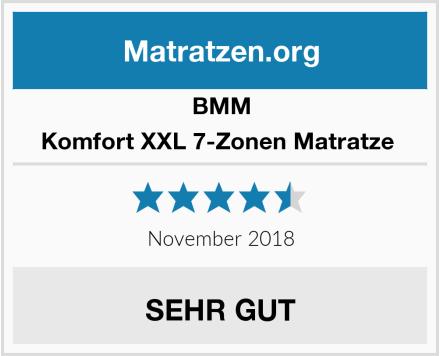 BMM  Komfort XXL 7-Zonen Matratze  Test