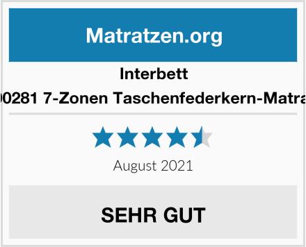 Interbett M300281 7-Zonen Taschenfederkern-Matratze  Test