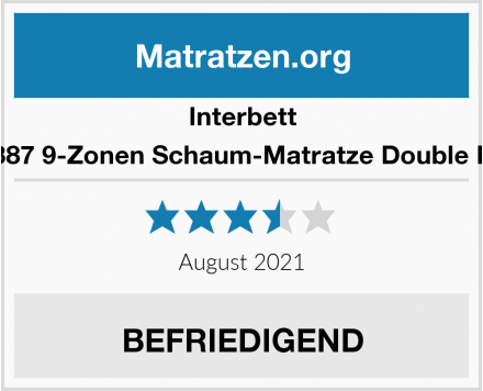 Interbett M300387 9-Zonen Schaum-Matratze Double Deluxe Test
