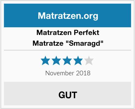 """Matratzen Perfekt Matratze """"Smaragd"""" Test"""