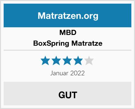 MBD-Matratzen BoxSpring Matratze Test