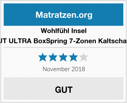 Wohlfühl Insel XXL MAMMUT ULTRA BoxSpring 7-Zonen Kaltschaum Matratze Test