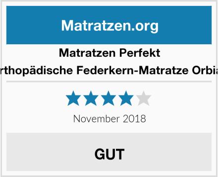 Matratzen Perfekt Orthopädische Federkern-Matratze Orbias Test