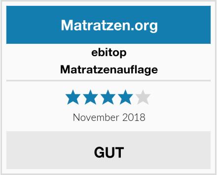 ebitop Matratzenauflage Test