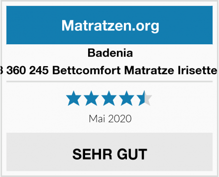 Badenia 03 888 360 245 Bettcomfort Matratze Irisette Lotus  Test