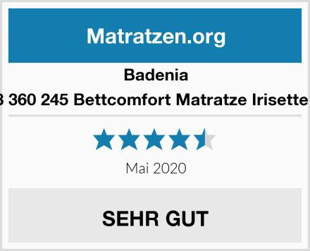 Badenia 03 888 360 245 Bettcomfort Matratze Irisette Lotus Test