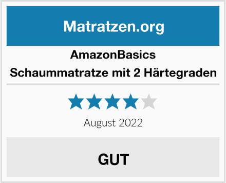 AmazonBasics Schaummatratze mit 2 Härtegraden Test