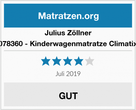 Julius Zöllner 1600078360 - Kinderwagenmatratze Climatix Plus Test