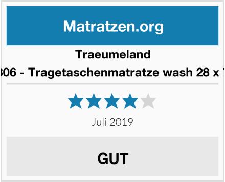 Traeumeland T030306 - Tragetaschenmatratze wash 28 x 73 cm Test