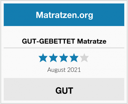 No Name GUT-GEBETTET Matratze Test
