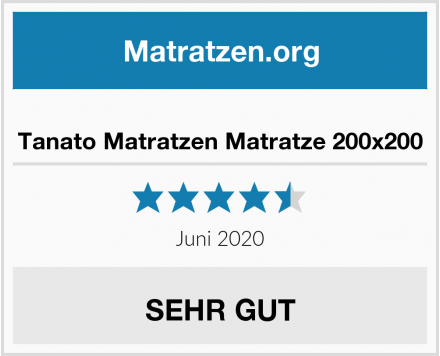No Name Tanato Matratzen Matratze 200x200 Test