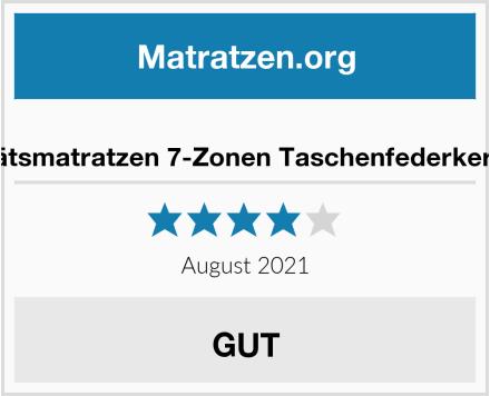 AM Qualitätsmatratzen 7-Zonen Taschenfederkernmatratze Test