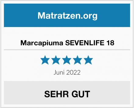 Marcapiuma SEVENLIFE 18 Test