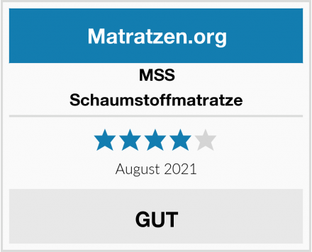 No Name MSS Schaumstoffmatratze Test