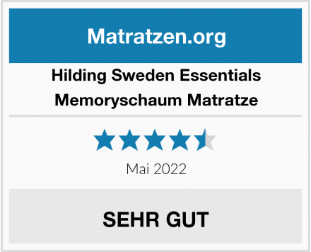 Hilding Sweden Essentials Memoryschaum Matratze Test