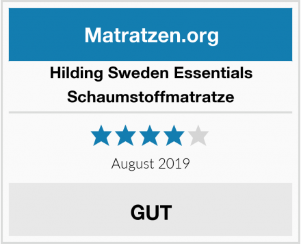 Hilding Sweden Essentials Schaumstoffmatratze Test