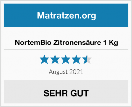 No Name NortemBio Zitronensäure 1 Kg Test