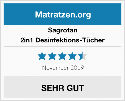 Sagrotan 2in1 Desinfektions-Tücher Test