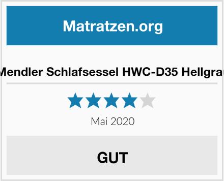 Mendler Schlafsessel HWC-D35 Hellgrau Test