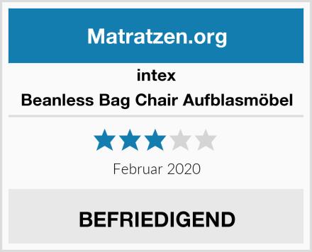 intex Beanless Bag Chair Aufblasmöbel Test