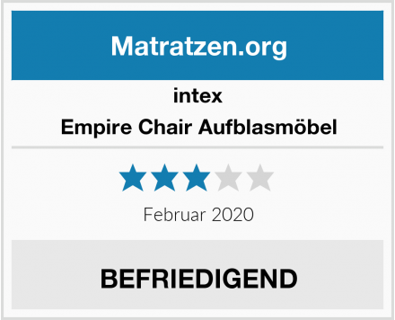 intex Empire Chair Aufblasmöbel Test