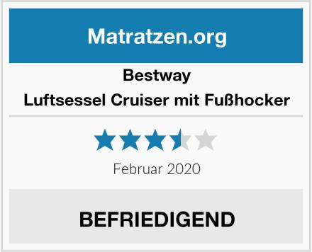 Bestway Luftsessel Cruiser mit Fußhocker Test