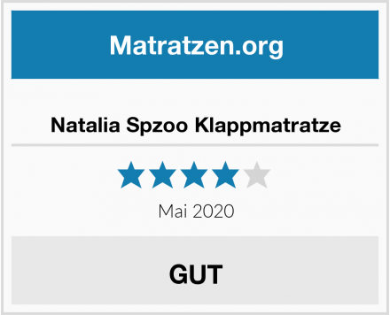 Natalia Spzoo Klappmatratze Test