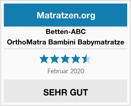 Betten-ABC OrthoMatra Bambini Babymatratze Test