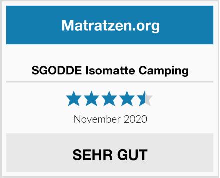 SGODDE Isomatte Camping Test