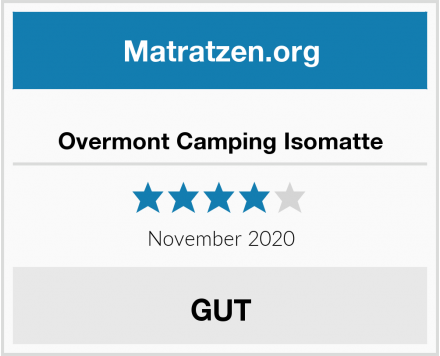 Overmont Camping Isomatte Test